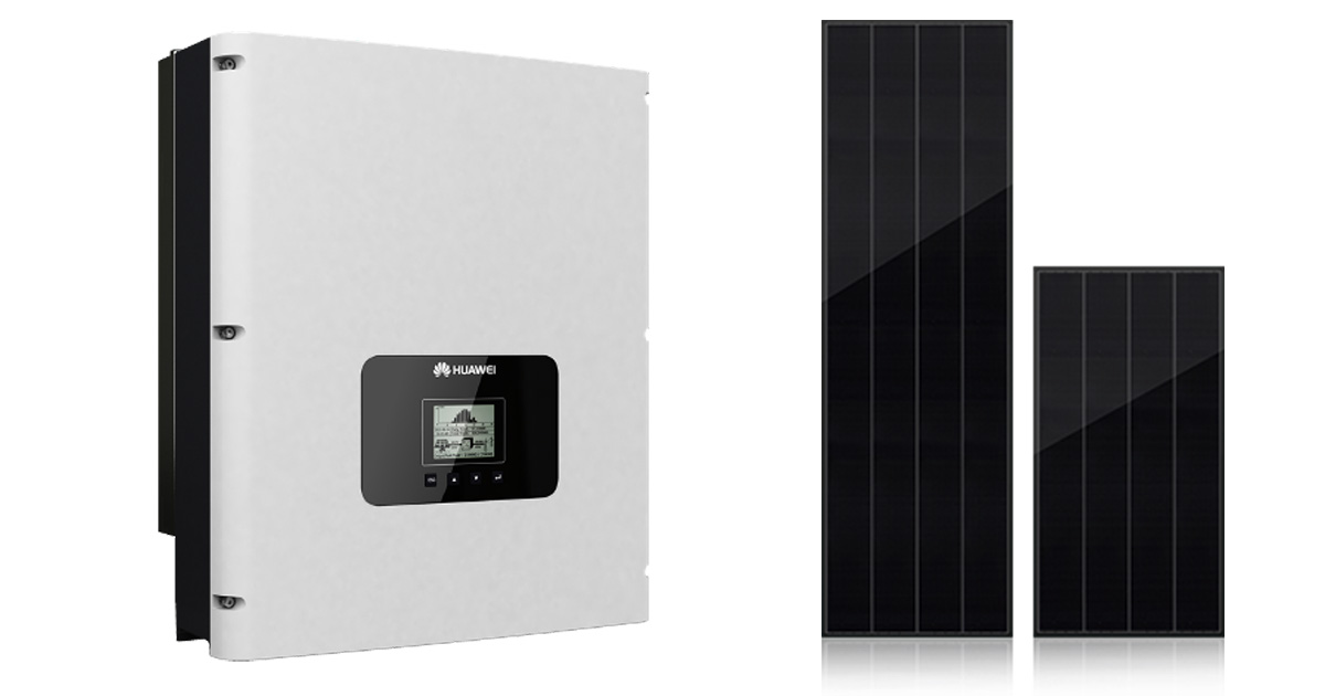 Huawei SUN2000 3 phases with Best Solar Panel