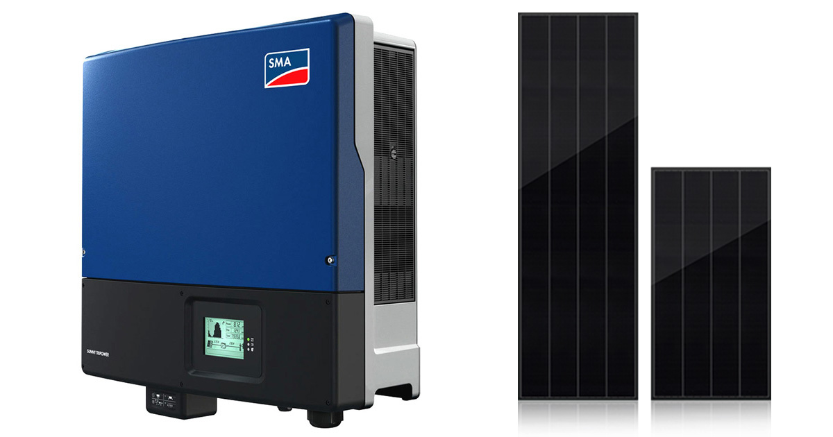 SMA Inverter 25000TL with Best Solar Panel